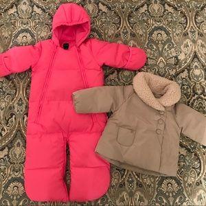 BabyGap Snowsuit & Zara Winter Jacket